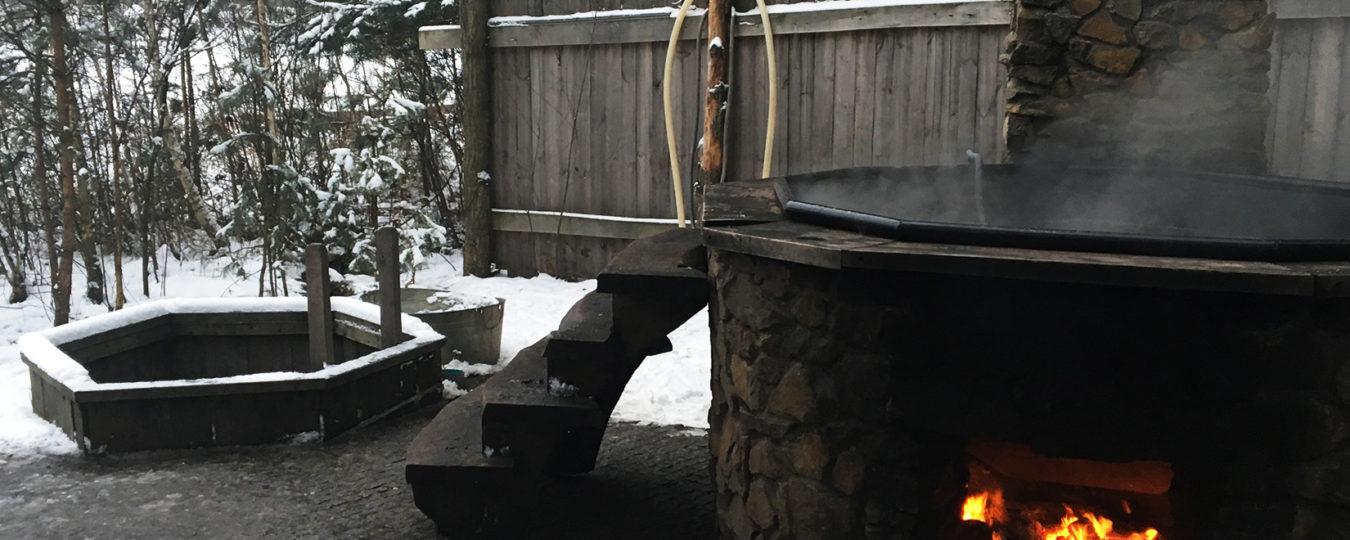 купание зимой в чане